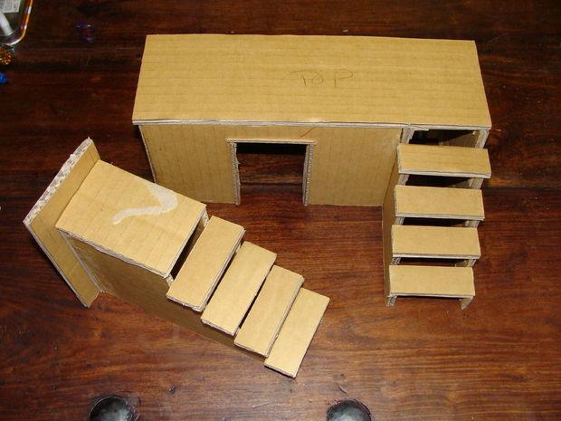 Мебель в кукольный домик своими руками из картона 46