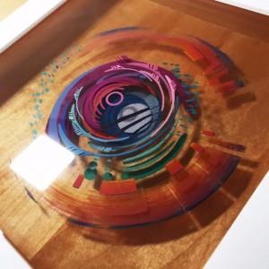 نقاشی سه بعدی با رزین
