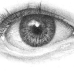 آموزش کشیدن چشم سیاه قلم