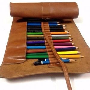 آموزش کیف چرمی برای مداد (نمونه دوم)