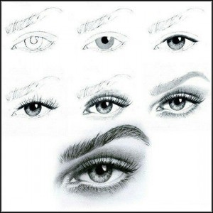 آموزش کشیدن چشم3