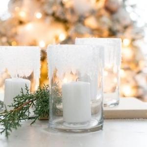 آموزش ساخت جا شمعی یخی