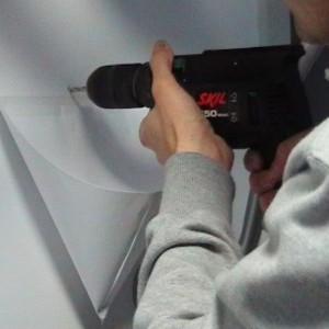 جلوگیری از ریزش گرد و غبار هنگام کار با دریل چکشی